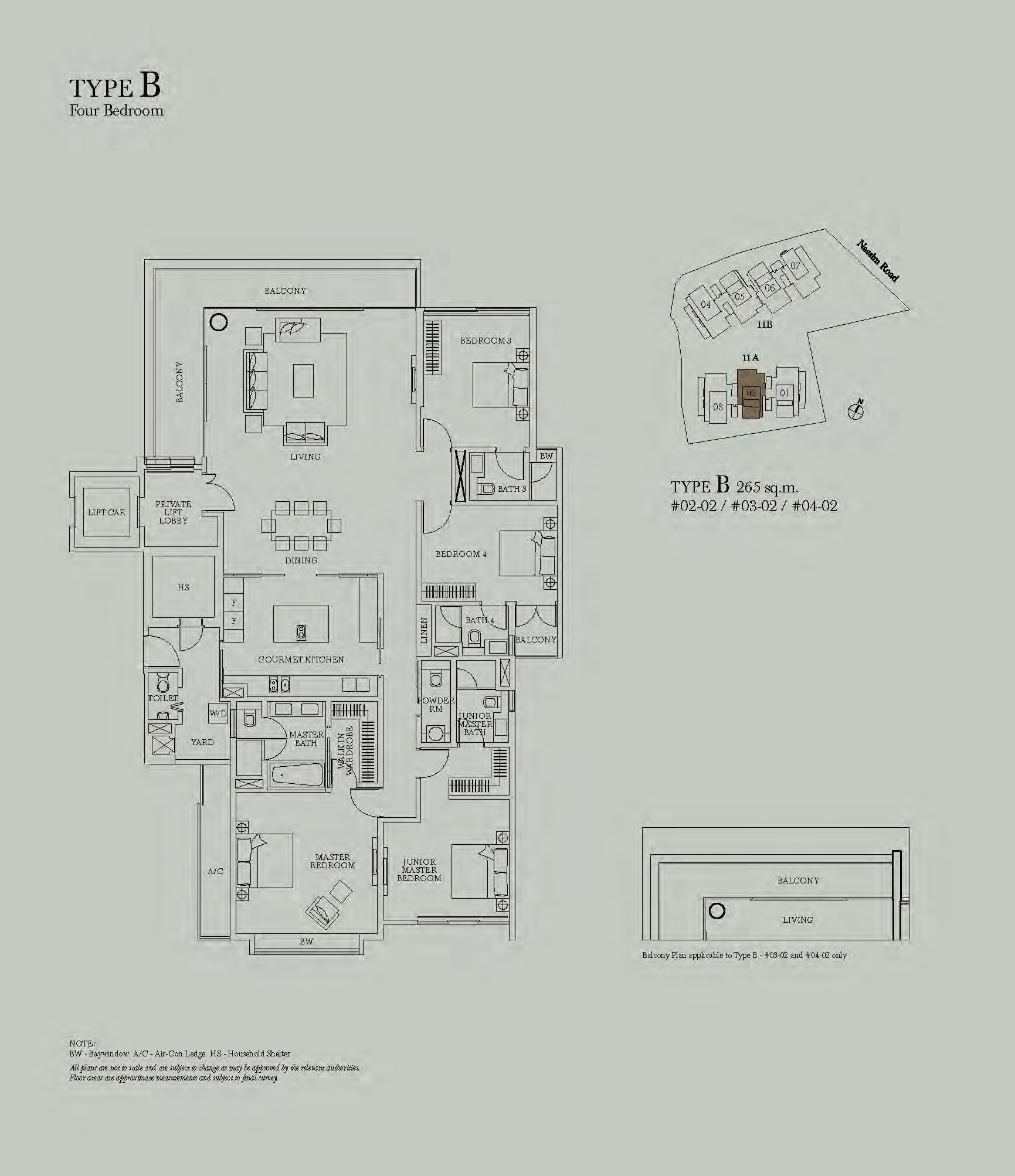 4 bedroom sage nassim for Sage floor plan